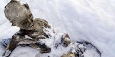 En junio de 2015 se encontraron tres cuerpos momificados en el Pico de Orizaba, la montaña más alta de México Foto:AFP