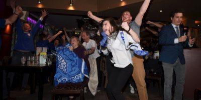 Las celebraciones del Leicester Foto:Getty Images
