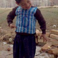 Las fotos del niño fueron difundidas por una cuenta de Twitter dedicada a Messi. Foto:Twitter