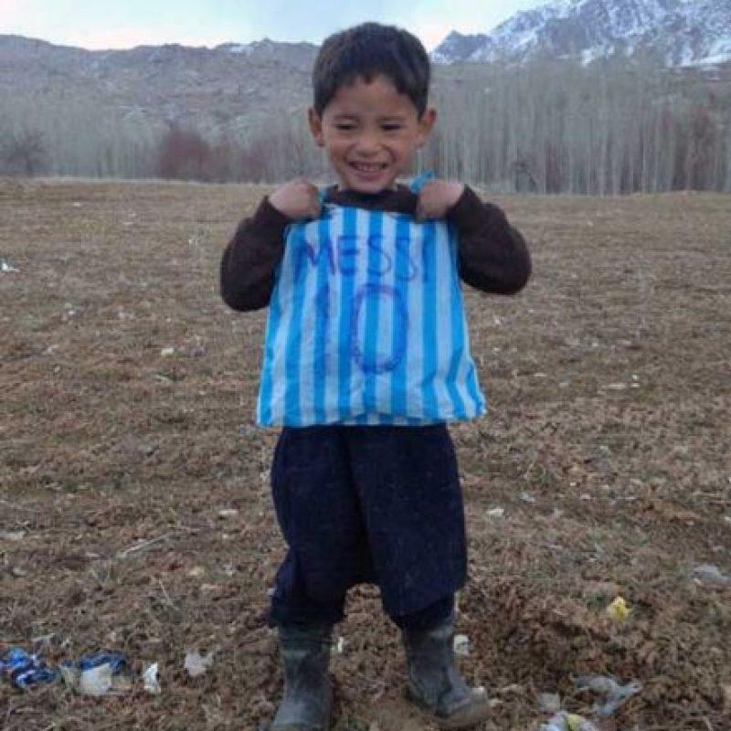 Hecha con una bolsa de plástico. Foto:AFP