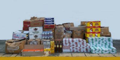 Desmantela depósito de mercancías contrabandeadas y falsificación de alcohol