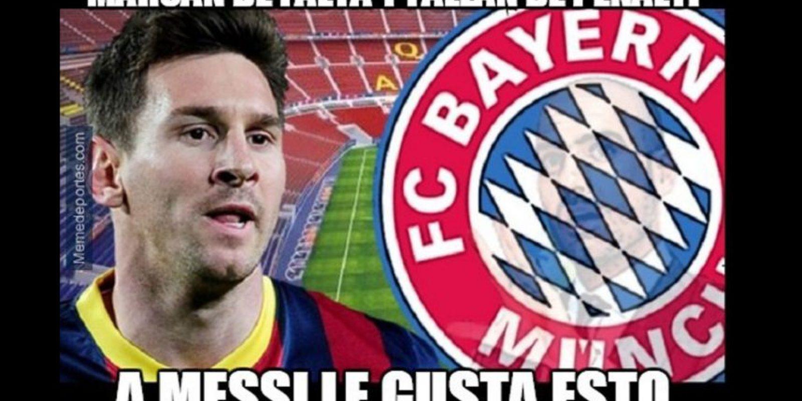 Y en redes sociales se acordaron de Messi. Foto:memedeportes.com