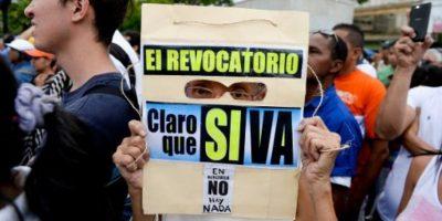 Sin embargo, la oposición señaló que recolectaron más de un millón en menos de tres días. Foto:AFP