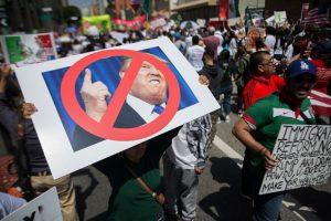 Continúan las protestas en contra de Donald Trump Foto:Getty Images