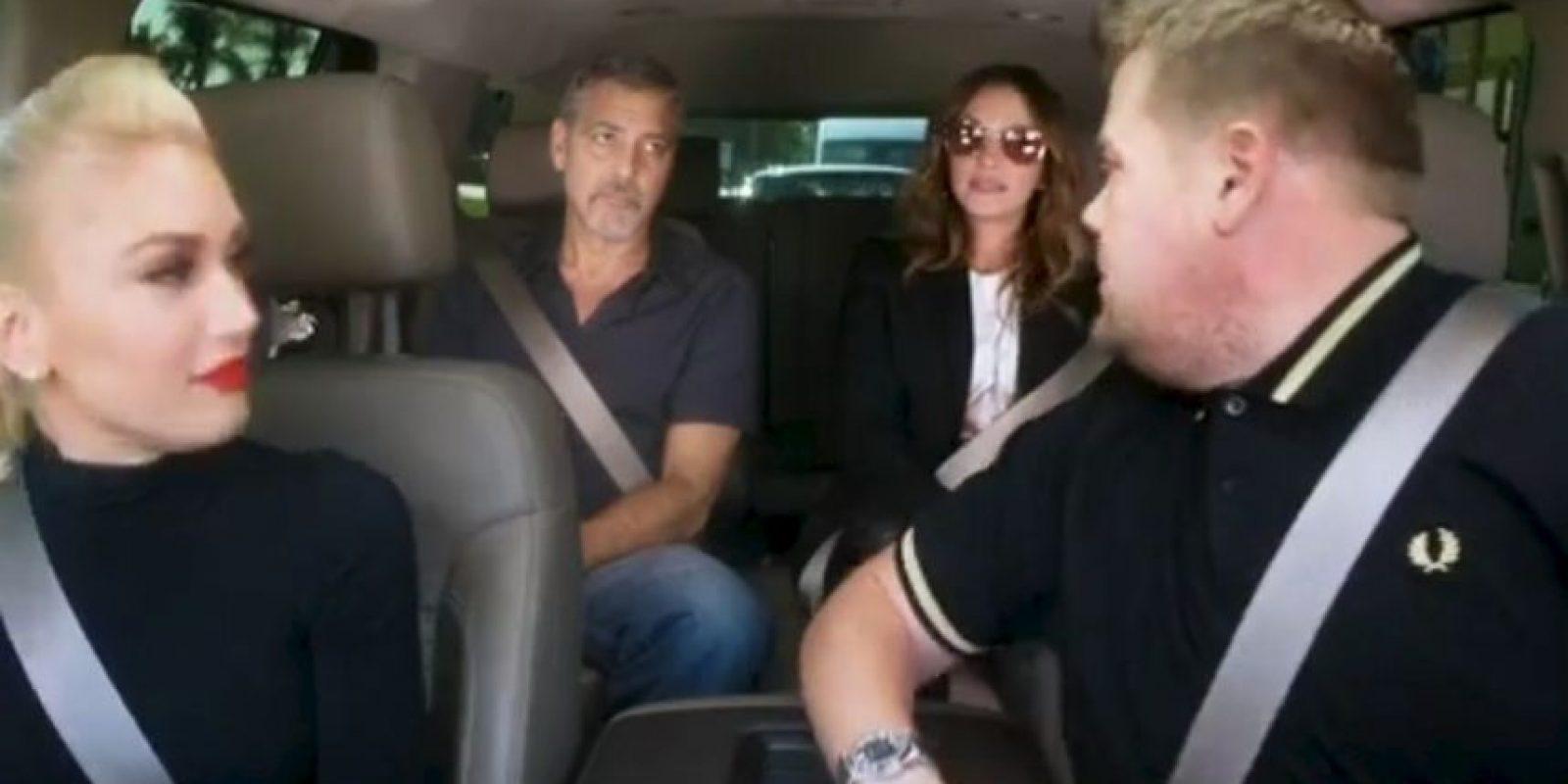 Gwen Stefani, Julia Roberts y George Clooney Foto:Vía Youtube/LateLateShow