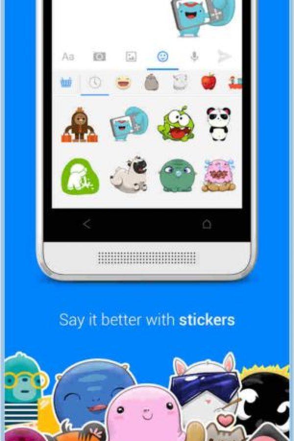 "En ella se acostumbra usar ""stickers"". Foto:Play Store"
