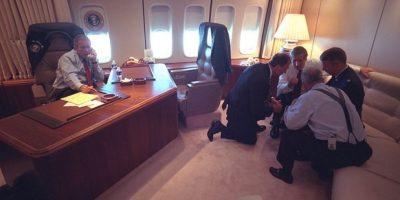 Revelan fotos inéditas del 11 de septiembre del archivo Bush