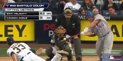 El HR de Bartolo Colón, medido por MLB