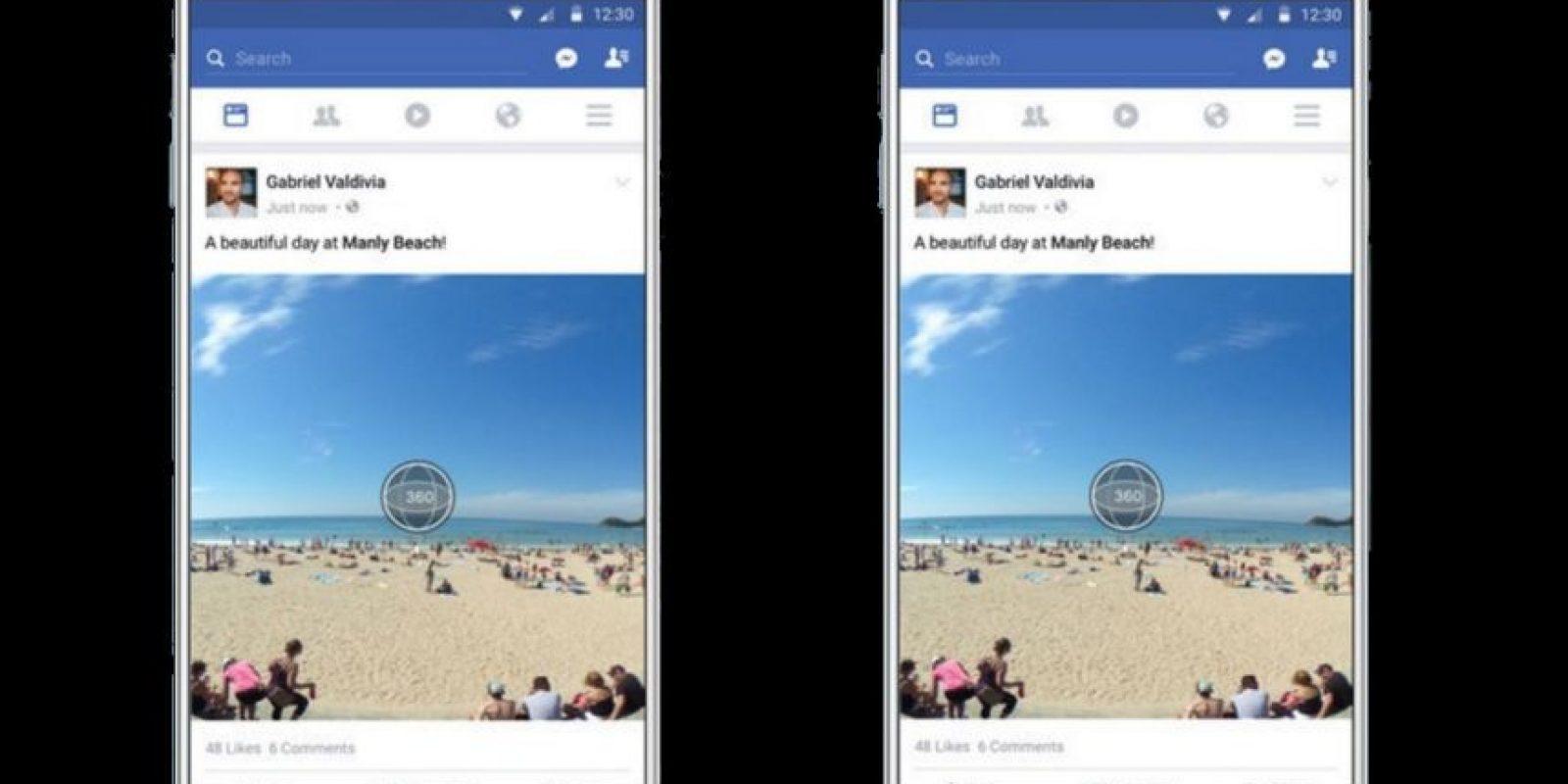 Los videos de 360º llegaron a Facebook en 2015. Foto:Facebook