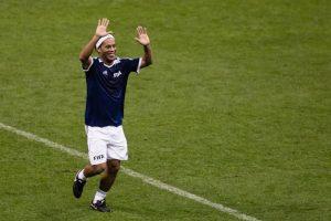 Y desplegó su magia en el Estadio Azteca. Foto:Getty Images