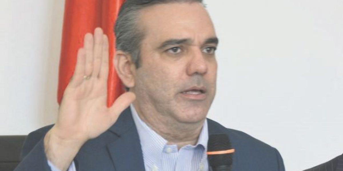 """Luis Abinader: """"No votes por la corrupción"""""""