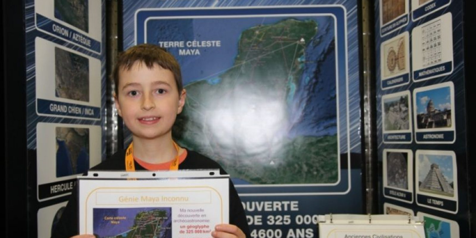 Presentó su proyecto en Quebec en julio de 2014, cuando tenía 15 años Foto:Exposciences.qc.ca