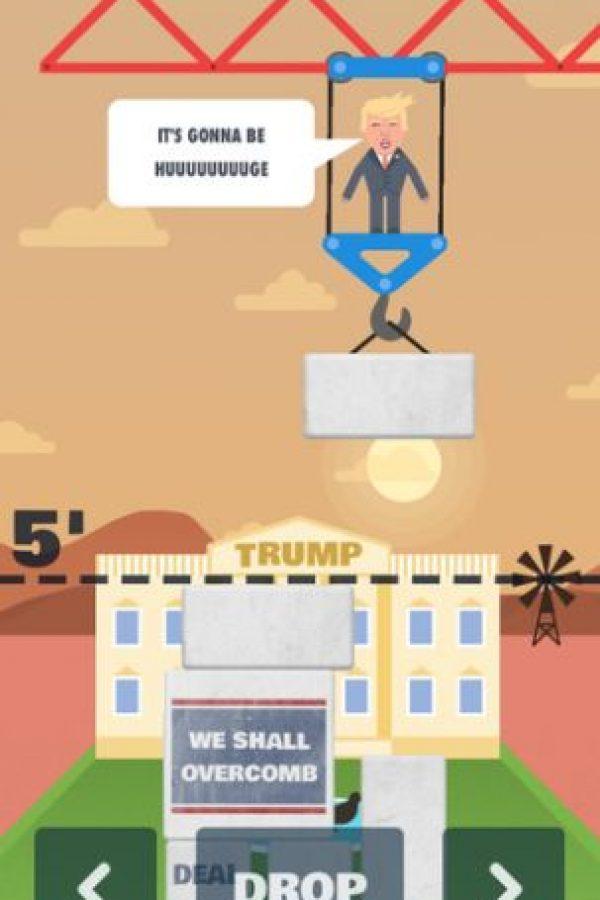 """Inicia con un edificio en el fondo que pareciera ser la Casa Blanca, pero en cuya fachada se lee """"Trump"""" Foto:The Blu Market"""