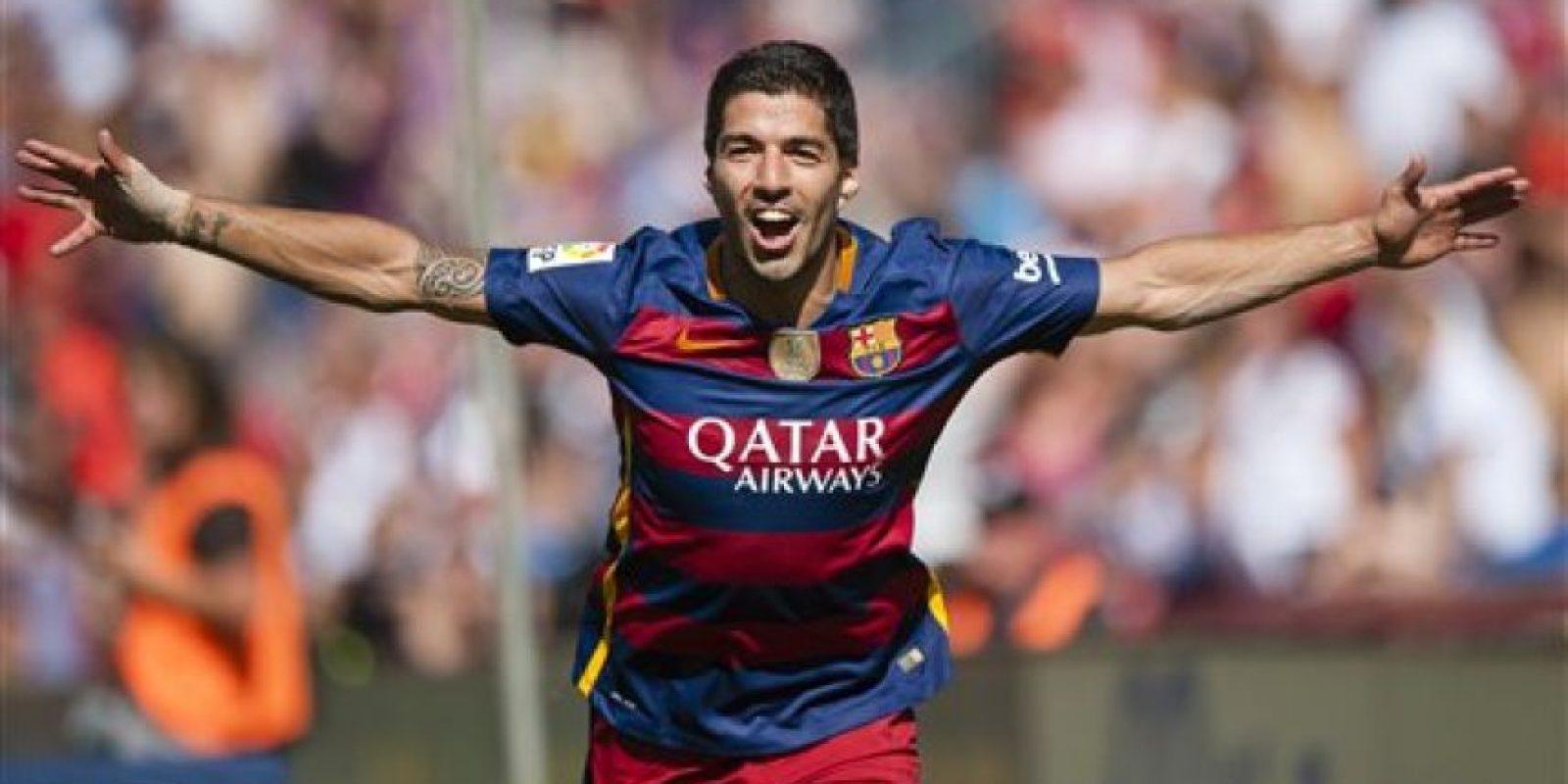 Luis Suárez le dio el triunfo al equipo azulgrana. Foto:AP