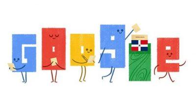 El doodle en honor a las elecciones dominicanas