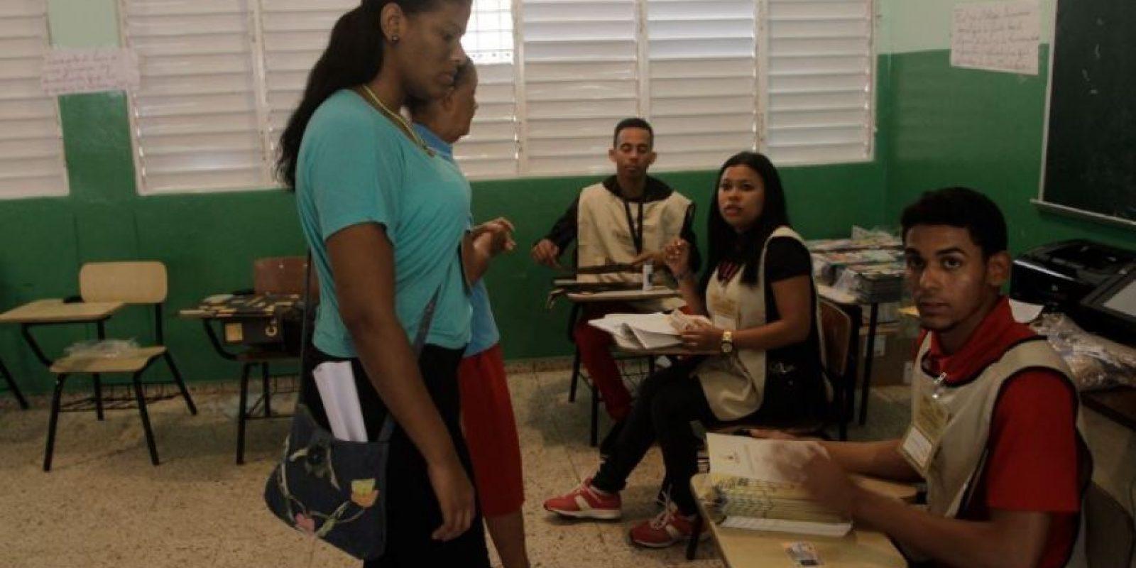 Técnicos de la Junta Central Electoral Foto:Roberto Guzmán