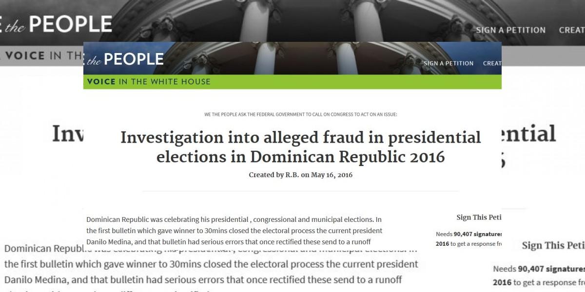 Crean petición para que EEUU investigue elecciones en Dominicana