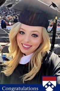 Ahora se graduó de la Universidad de Pennsylvania Foto:instagram.com/tiffanytrump/