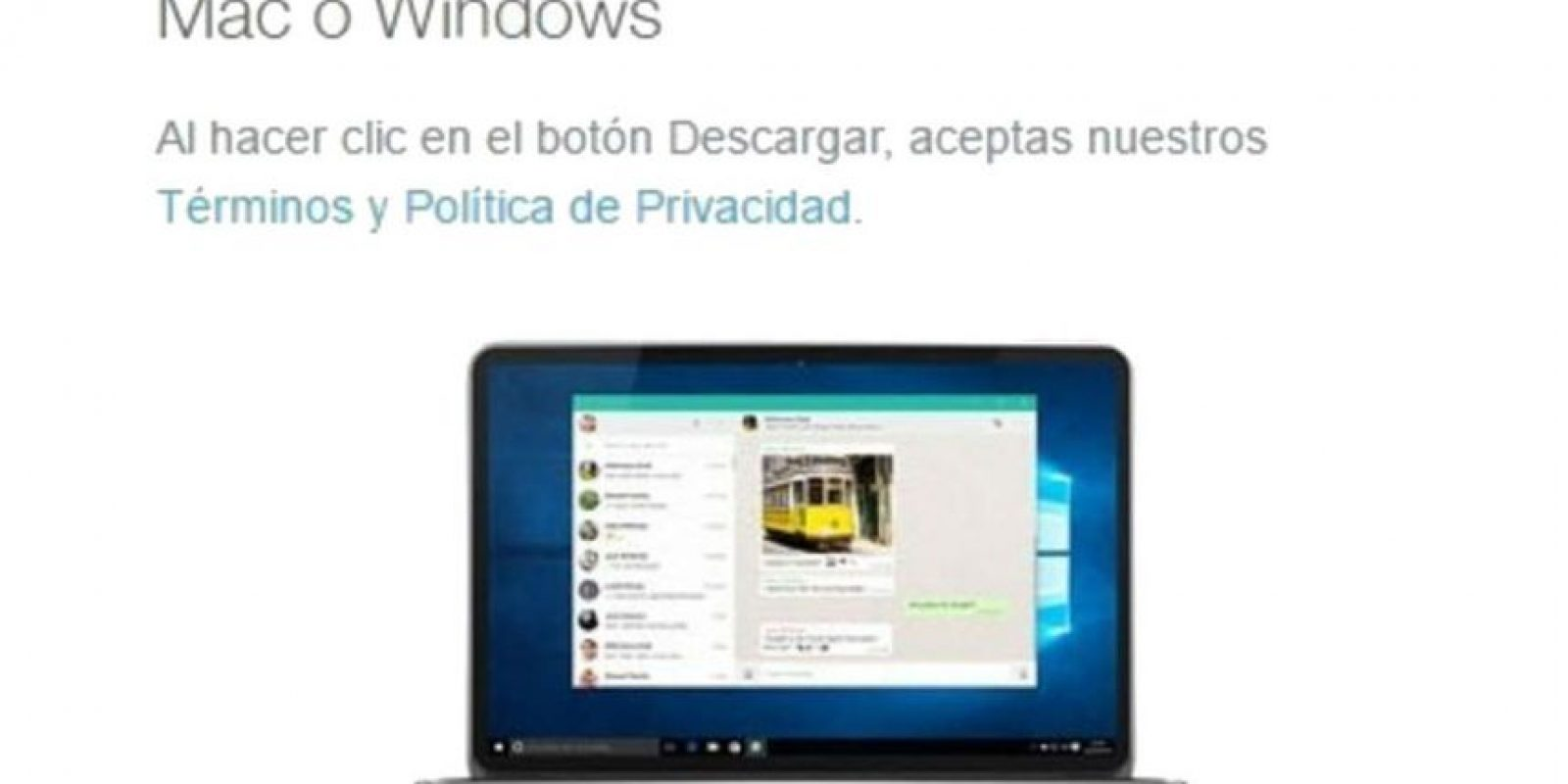 Está disponible para OS 10.9 en adelante y Windows 8 en adelante. Foto: WhatsApp