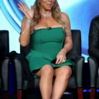 Así lucía en 2015. El vestido verde no la hizo lucir más esbelta por estar arriba de las rodillas. Foto:Getty Images