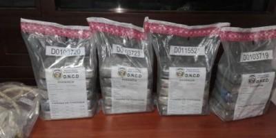 Incautan de 22.88 kilos de cocaína procedentes de Colombia