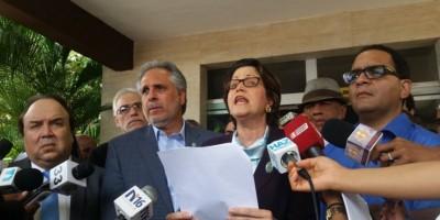 Candidatos a senadores DN acusan a la JCE de ser cómplice en fraude a favor del PLD