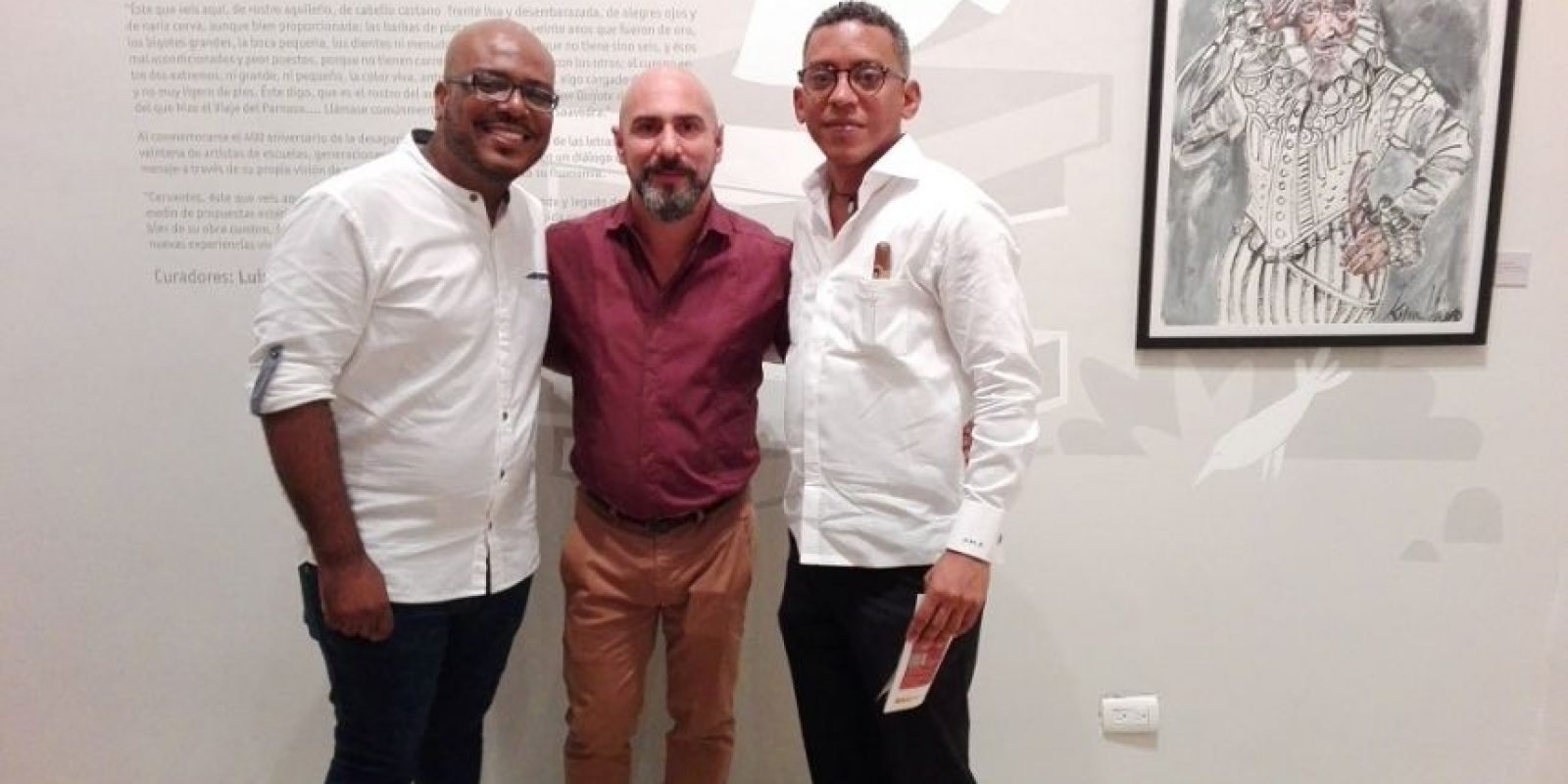 Luis Graham, Juan Sánchez y José Miguel Font. Foto:Fuente Externa