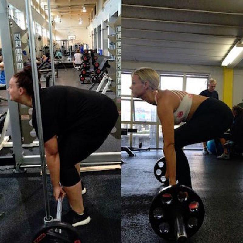 Hacer ejercicio de manera regular en el gimnasio Foto:Instagram.com/simone_anderson