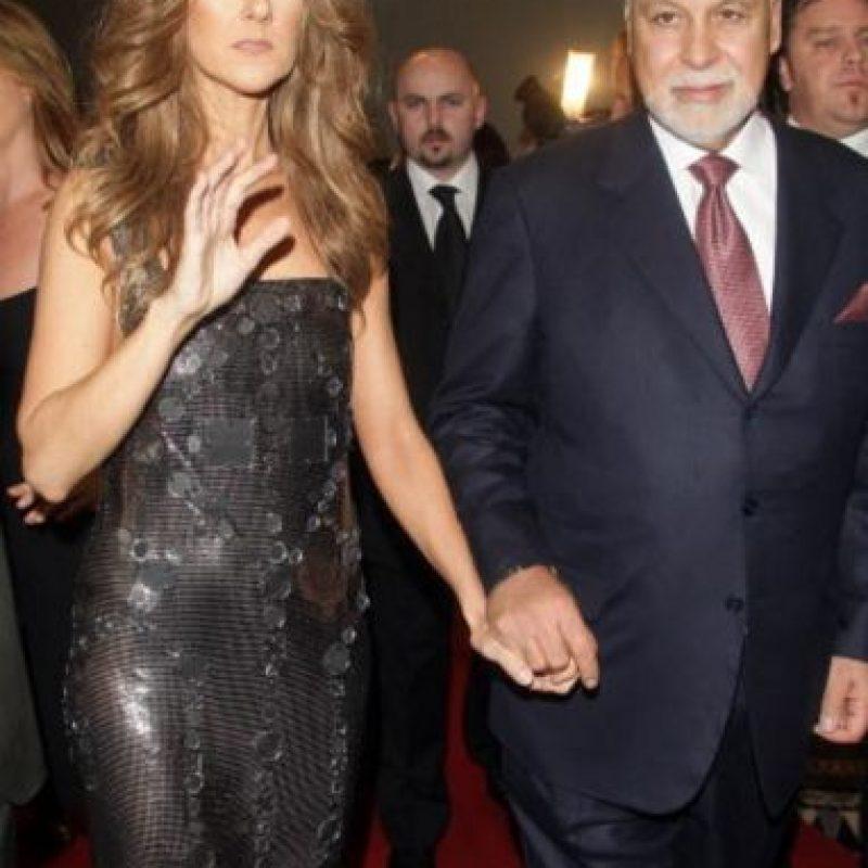 Aquí vemos a la cantante con su esposo, el recientemente fallecido Rene Angelil. Foto:Getty Images