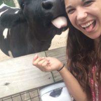 Con una vaca Foto:Imgur