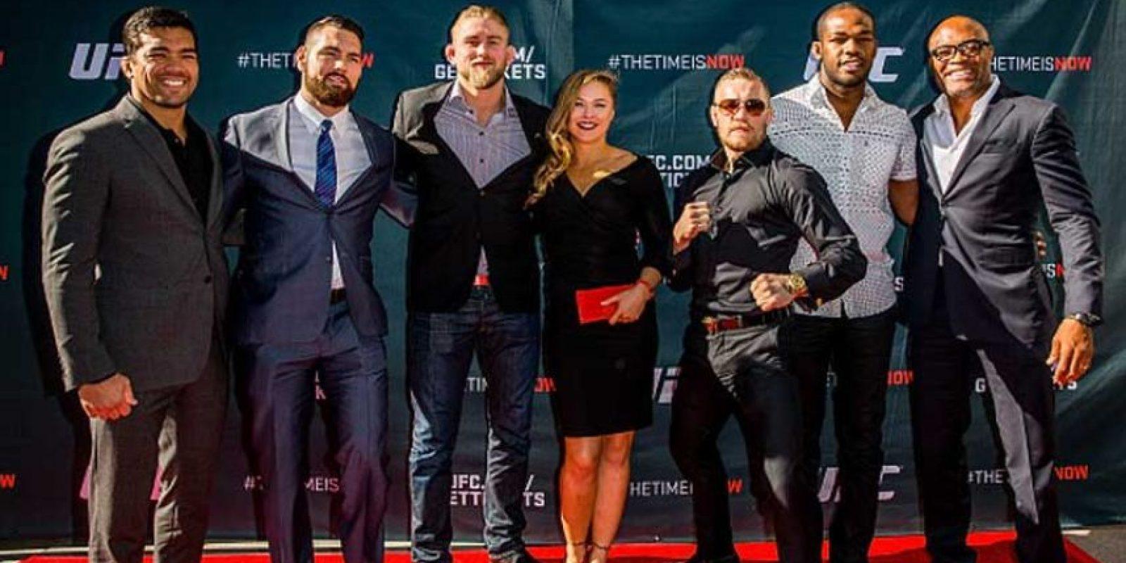 Ambos coincidieron en las previas de UFC 189. Foto:Getty Images