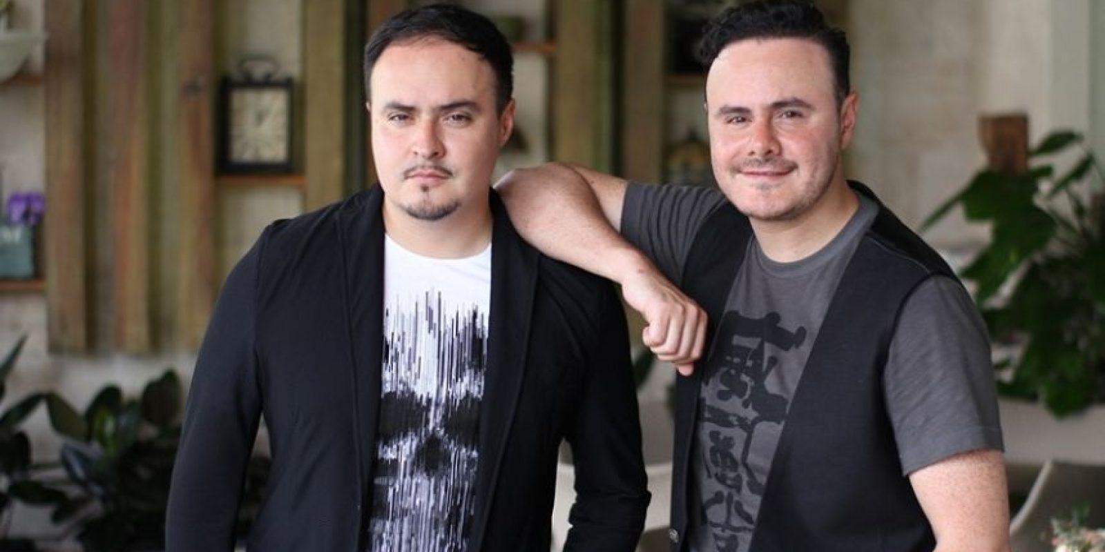 """Raúl y José Luis Ortega Castro, integrantes del dueto pop- romántico """"Río Roma. Foto:Cortesía Sony Music RD."""