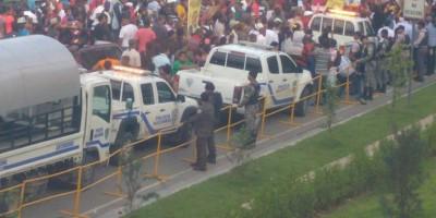 Junta Electoral DN permanece custodiada por unos 50 efectivos policía militar