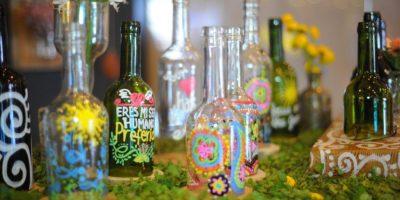 Piezas decorativas con arte reciclado