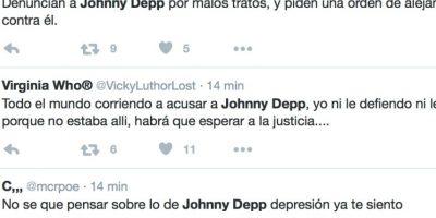Reacciones en Twitter respecto a las acusaciones de Heard Foto:Twittter