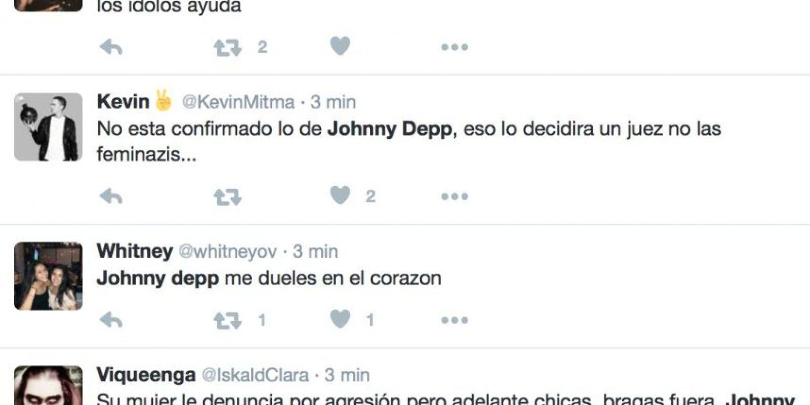 Así reaccionó Twitter tras saber que Johnny Depp golpeaba a Amber Foto:Twitter