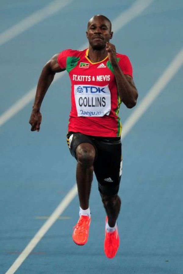 Kim Collins tiene 40 años y uno de los hombres más rápidos del planeta en lo que va de 2016. Foto:Getty Images