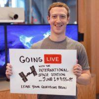 Mark hablará con astronautas de la NASA. Foto:Facebook/Mark Zuckerberg