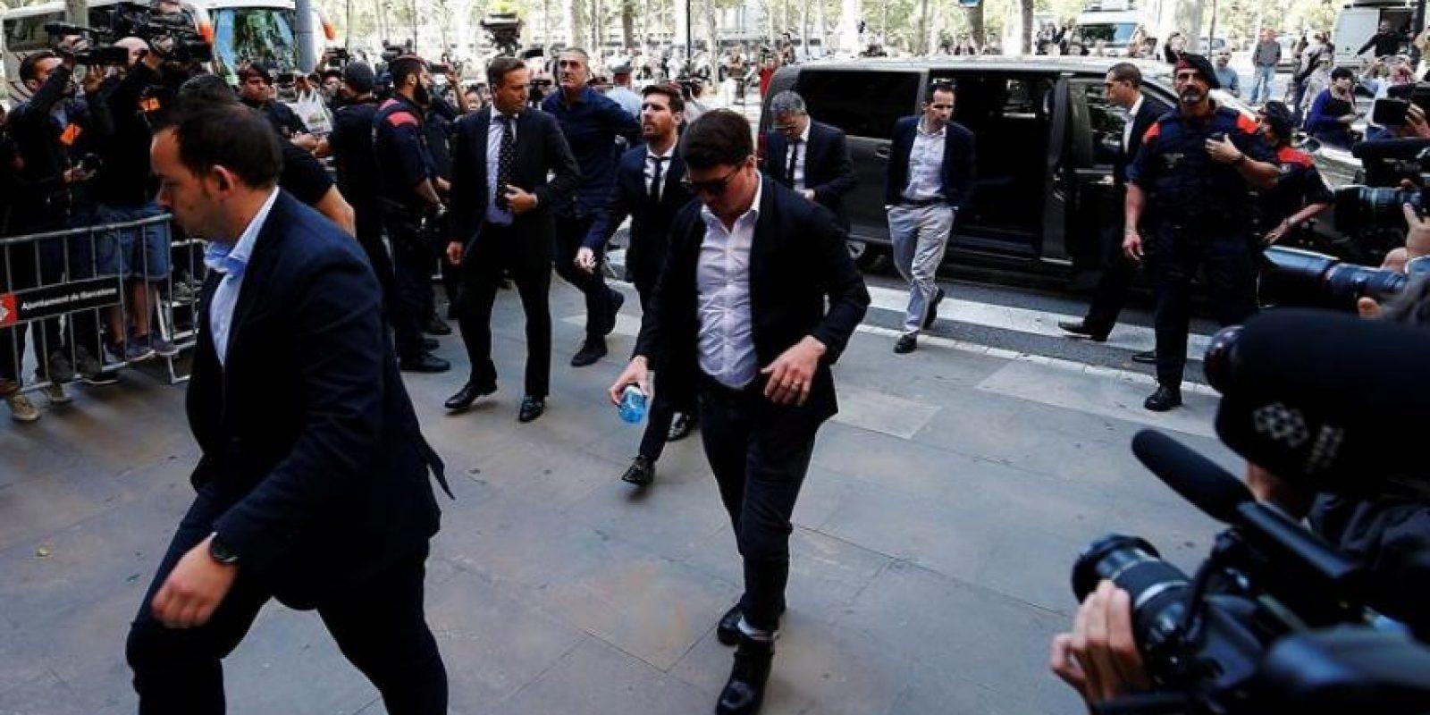 Lionel Messi a su llegada a la audiencia Foto:EFE