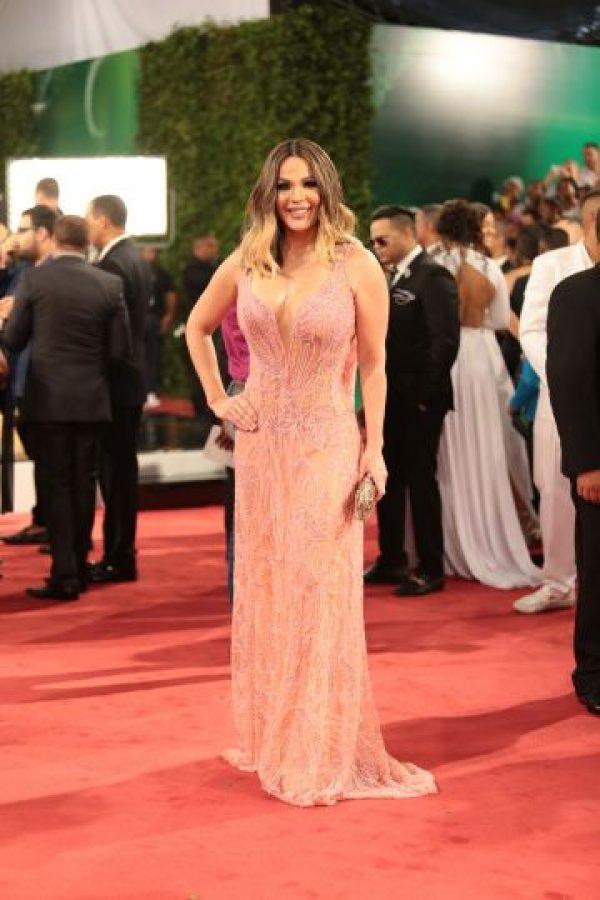 Luz García fue una de las estrellas más acertadas; vistió una pieza de la diseñadora Jacqueline Then Foto:Fuente externa