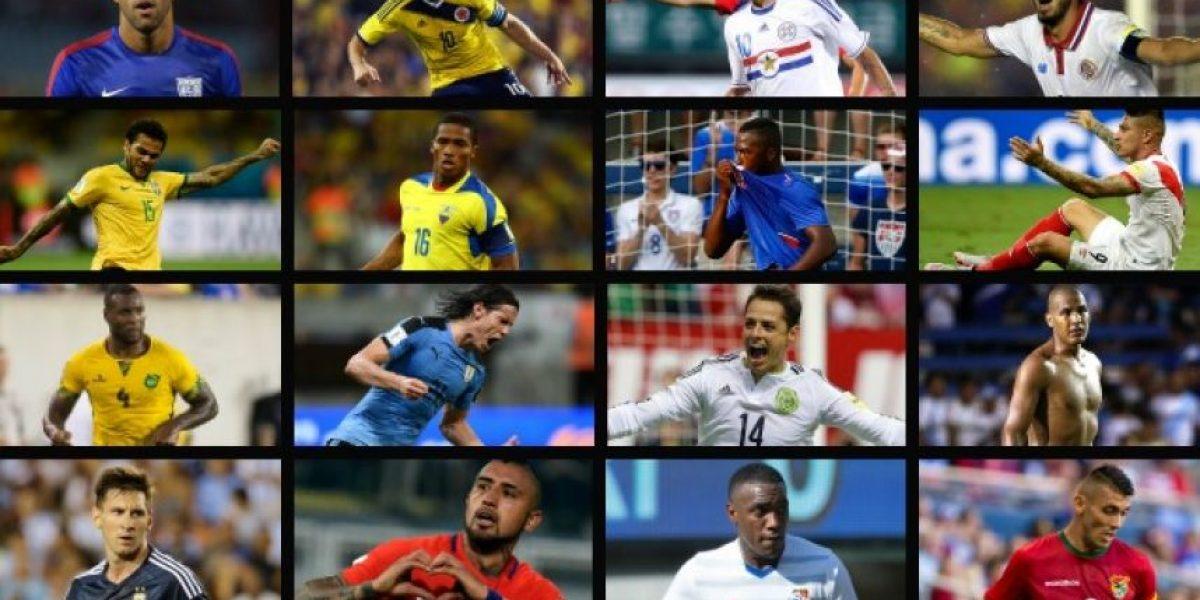 Las figuras que comandarán a cada selección en la Copa América Centenario