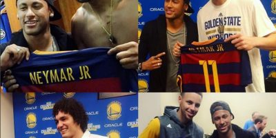 No todo es fútbol en la vida de Neymar y también fue a disfrutar del segundo partido de la final entre Golden State Warriors y Cleveland Cavaliers Foto:Instagram Golden State Warriors