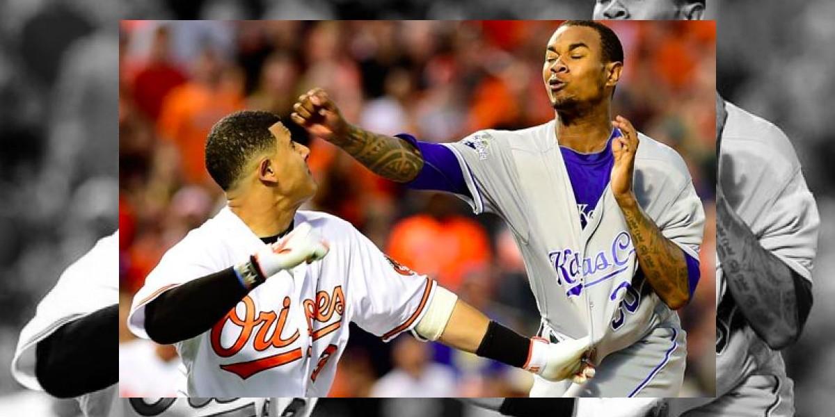 VIDEO: Yordano Ventura y Manny Machado protagonizan pelea en MLB