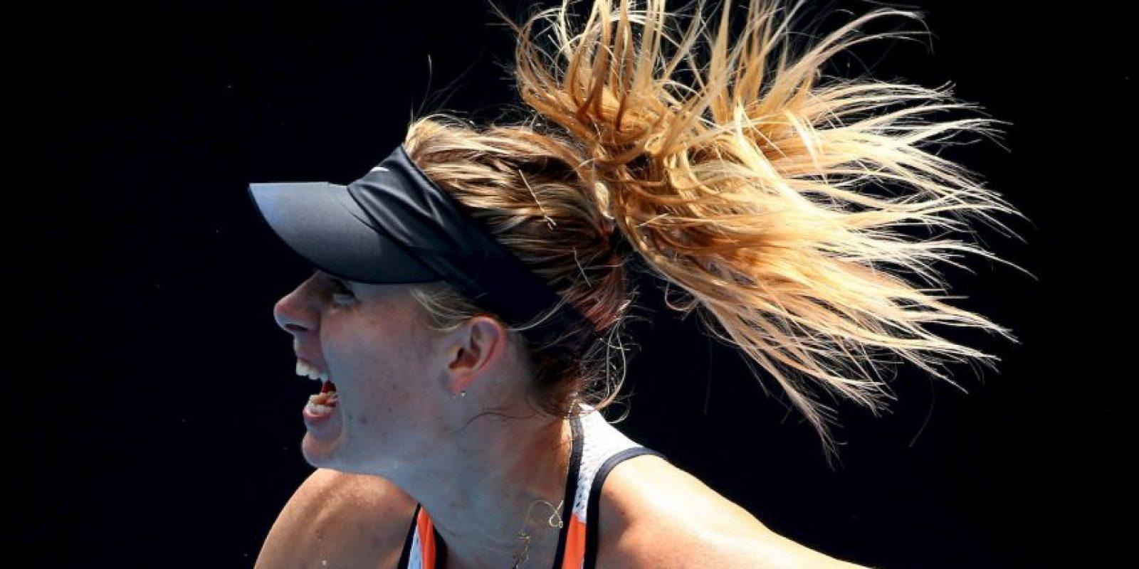La tenista anunció en marzo que había dado positivo por meldonium, un medicamento que estaba utilizando para tratar distintas problemas de salud Foto:Getty Images