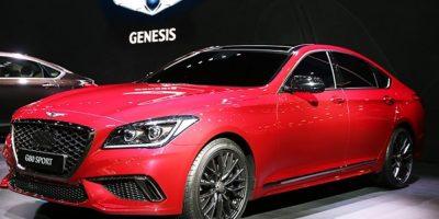 La nueva marca Genesis presentó el G80 y el G80 sport (en la foto). Foto:Suministrada