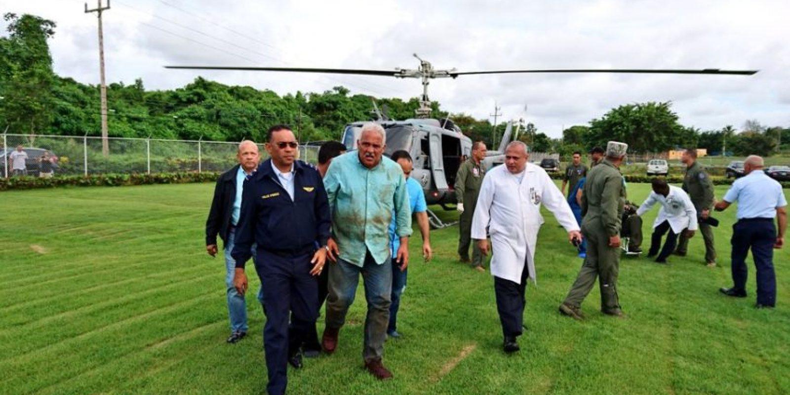 Fernández Mirabal fue trasladado al hospital de la Fuerza Aérea. Foto:Fuente externa