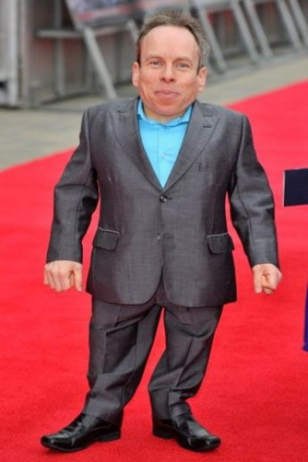 Warwick Davis/Mide 1 metro 7 centímetros (42 pulgadas) Foto:Getty Images
