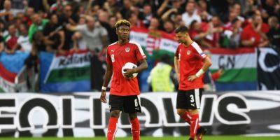 David Alaba, gran figura de Austria, lamentó la derrota Foto:Getty images