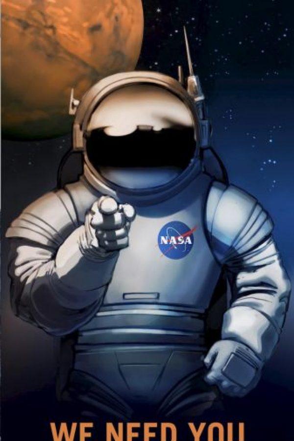 Los afiches futuristas con los que la NASA busca trabajadores Foto:NASA