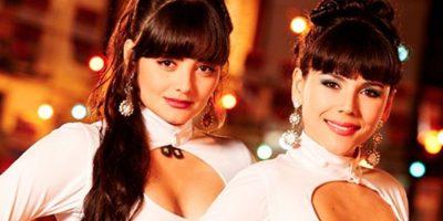 """""""Las hermanitas Calle"""", dúo colombiano de rancheras. Fueron interpretadas por Carolina Gaitán y Yuri Vargas. Foto:Canal Caracol"""